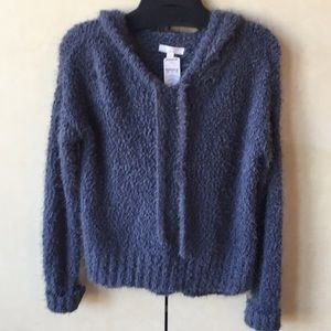 NWT Lauren Conrad Fuzzy Medium Grey Sweater Top